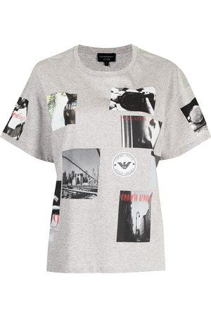 Emporio Armani Mujer Tops - Camiseta con estampado gráfico