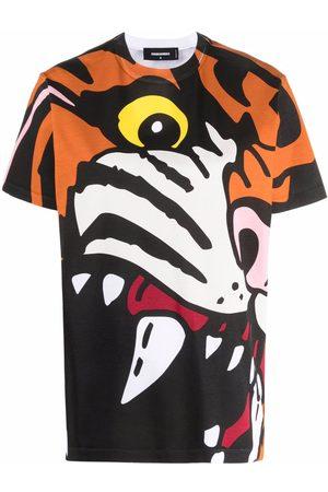 Dsquared2 Camiseta con estampado de tigre