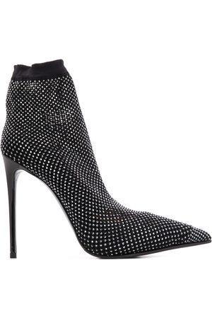 LE SILLA Botas estilo calcetín con tacón de 115 mm y apliques