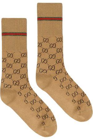 Gucci Hombre Calcetines - Calcetines con GG y tribanda Web