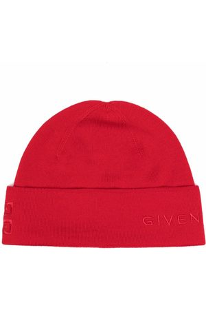 Givenchy Hombre Gorros - Embroidered-logo wool beanie