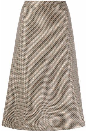 Maison Margiela Mujer Acampanadas - Houndstooth-check A-line skirt