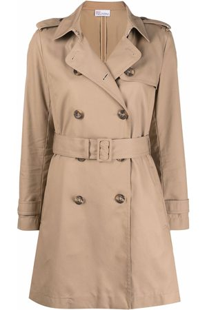 RED Valentino Mujer Gabardinas - Pleated double-breasted trench coat