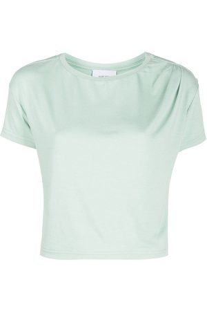 Marchesa Notte Camiseta corta con cuello redondo
