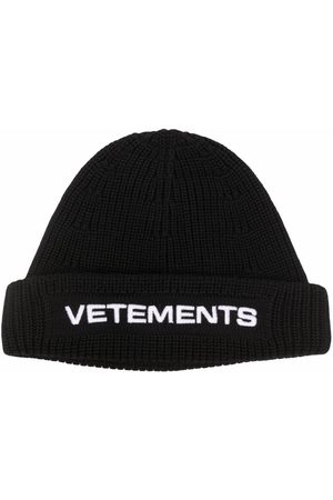 Vetements Gorros - Embroidered-logo ribbed beanie