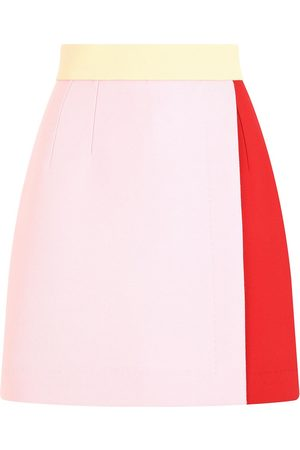 Dolce & Gabbana Mujer De talle alto - Falda de cintura alta con diseño colour block