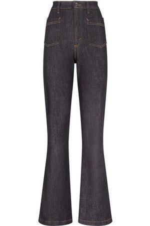 Dolce & Gabbana Mujer Acampanados - Vaqueros de talle alto acampanados