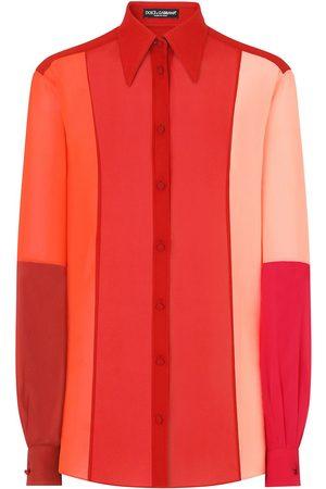 Dolce & Gabbana Mujer Manga larga - Camisa con diseño colour block