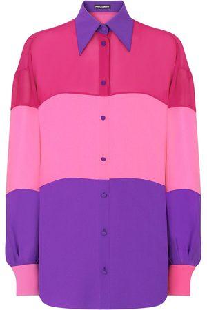 Dolce & Gabbana Mujer Camisas - Camisa con paneles colour block