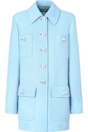 Dolce & Gabbana Mujer Abrigos largos - Abrigo midi con botones