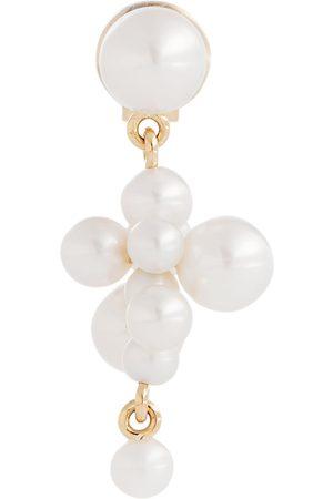 SOPHIE BILLE BRAHE Arete único Petite Cellie de oro de 14 ct con perlas