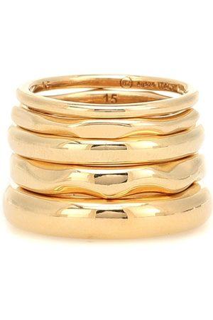 Bottega Veneta Mujer Sets de joyas - Set de cinco anillos con baño en oro de 18 ct