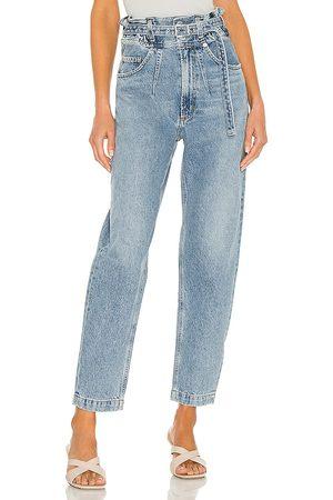 AGOLDE Mujer Cintura alta - Jean pierna recta riya en color azul talla 23 en - Blue. Talla 23 (también en 24, 25, 26, 27, 28, 29, 30, 31, 32).