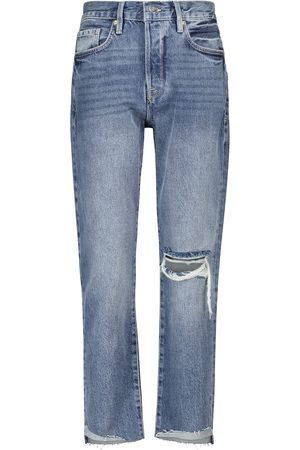 Frame Jeans ajustados The Original de tiro alto