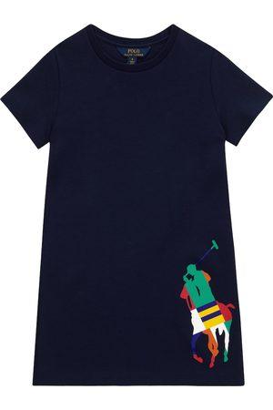 Ralph Lauren Vestido camisero de mezcla de algodón con logotipo