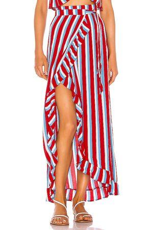 Lovers + Friends Mujer Faldas - Falda waves for days en color rojo talla L en - Red. Talla L (también en XXS, XS, S, M, XL).