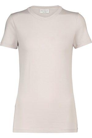 Brunello Cucinelli Camiseta de algodón elastizado