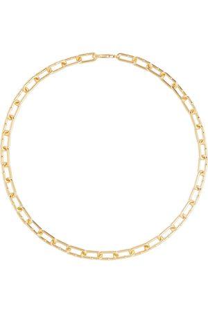 Bottega Veneta Collar de cadena de plata de tono