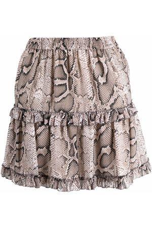 Michael Kors Mujer Estampadas - Minifalda con estampado de piel de serpiente