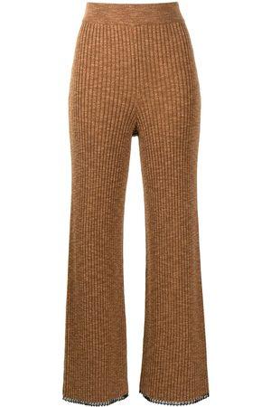 PROENZA SCHOULER WHITE LABEL Mujer Pantalones y Leggings - Pantalones de punto de canalé