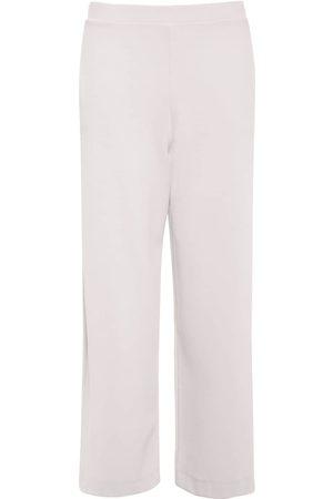 Max Mara   Mujer Pantalones Cropped Anchos De Jersey Stretch Xs