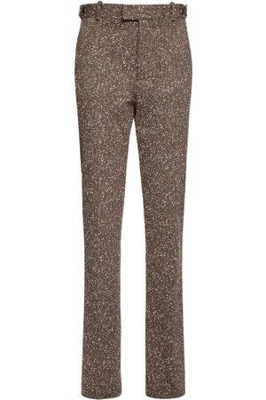 Bottega Veneta Mujer Pantalones y Leggings - | Mujer Pantalones En Espiguilla Stretch 36