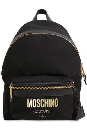 Moschino   Mujer Mochila Mediana De Nylon Con Logo Unique
