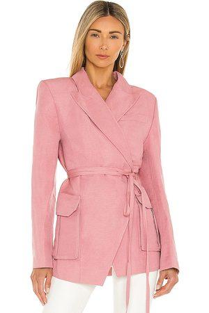 L'Academie Keely blazer en color rose talla L en - Rose. Talla L (también en XXS, XS, S, M, XL).