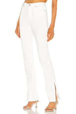 Something Navy Nina denim pants with slit en color talla 0 en - White. Talla 0 (también en 00, 6, 2, 4, 8, 10).