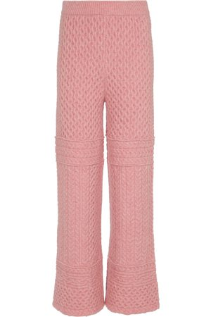 Nanushka Pantalones Fina de punto trenzado