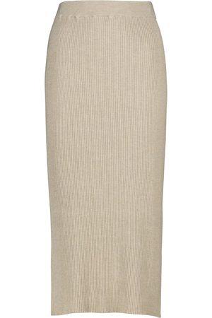 The Row Falda midi de seda y algodón Cannia