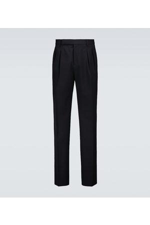 Brunello Cucinelli Hombre Pantalones de vestir - Pantalones cropped de lana y algodón