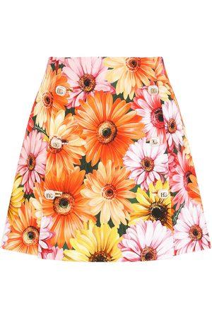 Dolce & Gabbana Falda acampanada con estampado floral