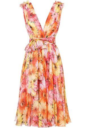 Dolce & Gabbana Vestido con estampado de girasoles