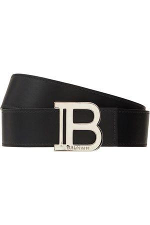 Balmain | Hombre Cinturón De Piel Con Hebilla B 3.5cm 85