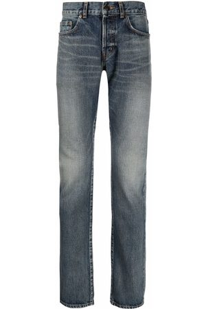 Saint Laurent Hombre Slim - Vaqueros slim de talle medio