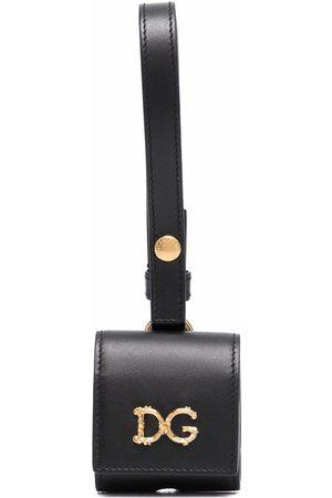 Dolce & Gabbana Mujer Carteras y monederos - Estuche para AirPods con placa con logo
