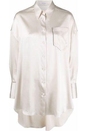 Brunello Cucinelli Camisa oversize de seda