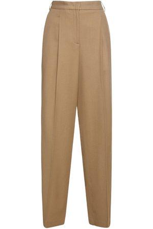 Aspesi   Mujer Pantalones Rectos De Lana Stretch 36