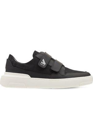 Emporio Armani | Niño Sneakers De Piel Estampada Con Correas 35