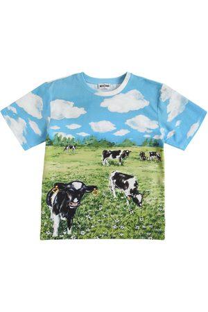 Moschino | Niña Camiseta Oversize De Jersey Estampado 8a