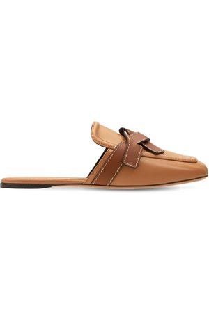 "Loewe | Mujer Zapatos Mules ""gate"" De Piel 10mm /brown 35"