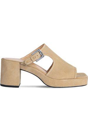 "By Far   Mujer Zapatos Mules ""melba"" De Ante 80mm 40"