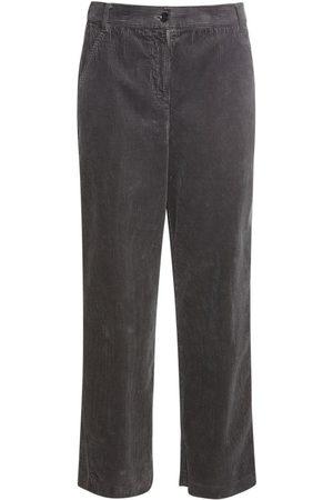 Aspesi   Mujer Pantalones Cropped De Pana De Algodón 36