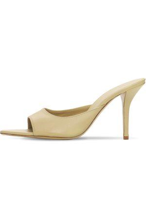 GIA | Mujer Zapatos Mules De Piel Con Punta 85mm 40