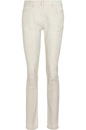 Givenchy Jeans skinny de tiro medio con rotos