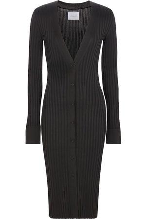 GALVAN Mujer Mini y ajustados - Vestido midi acanalado