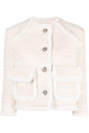 Philipp Plein Mujer Blazers - Blazer corto bordado