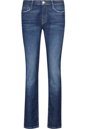 Frame Jeans ajustados Le Garçon de tiro medio