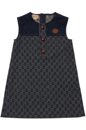 Gucci | Niña Vestido De Denim Orgánico Con Gg Jacquard 8a